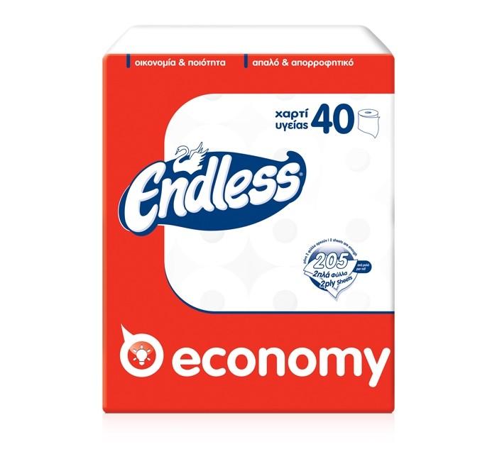 Χαρτί Υγείας Endless Economy 65gr 40 ρολά