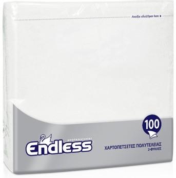 Χαρτοπετσέτες Πολυτελείας Endless Λευκή 2ply 33x33cm