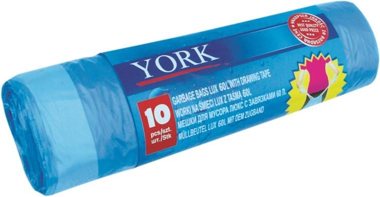 Σακούλες με κορδόνι York 60 λίτρων 10 τεμάχια