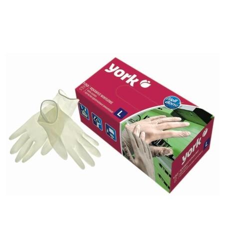 Γάντια μιας χρήσης York Βινυλίου ελαφρός πουδραρισμένα εσωτερικά 100τεμ