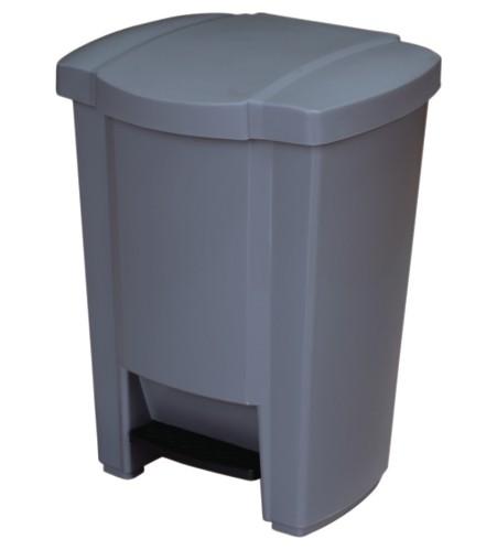 Κάδος απορριμμάτων WC γκρι 18lt με πεντάλ