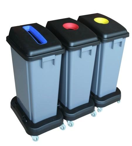 Σετ κάδων ανακύκλωσης Ram 3x60lt με τρόλεϊ 5427333