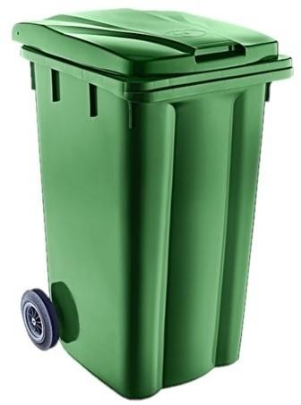 Κάδος απορριμμάτων με ρόδες 240lt Πράσινο