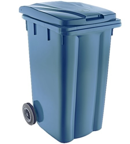 Κάδος απορριμμάτων με ρόδες 240lt Μπλε-Πετρόλ
