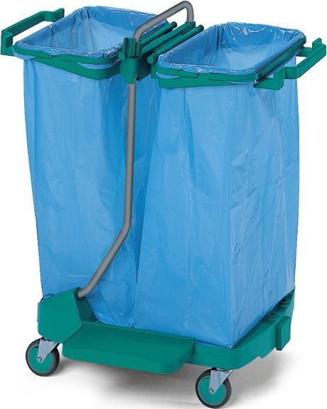 Καρότσι καθαρισμού με θέση για 2 σακούλες