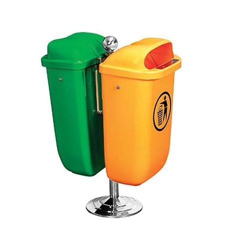 Πλαστικός κάδος απορριμάτων δαπέδου 2x50lt - 8860100