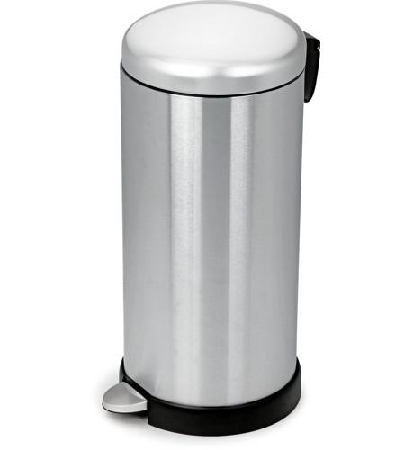 Ανοξείδωτος κάδος απορριμάτων με πεντάλ Ram Satin Inox 12lt