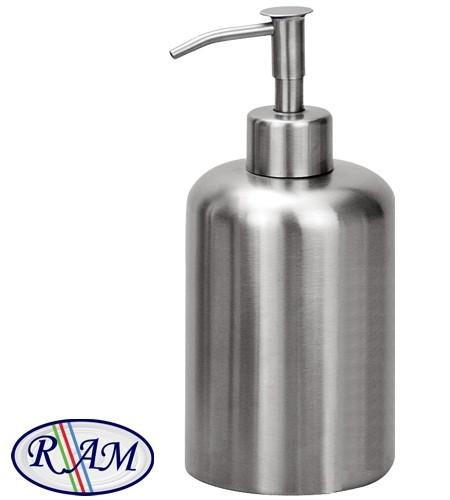 Μεταλλική επιτραπέζια σαπουνοθήκη Ram Inox mat 450ml