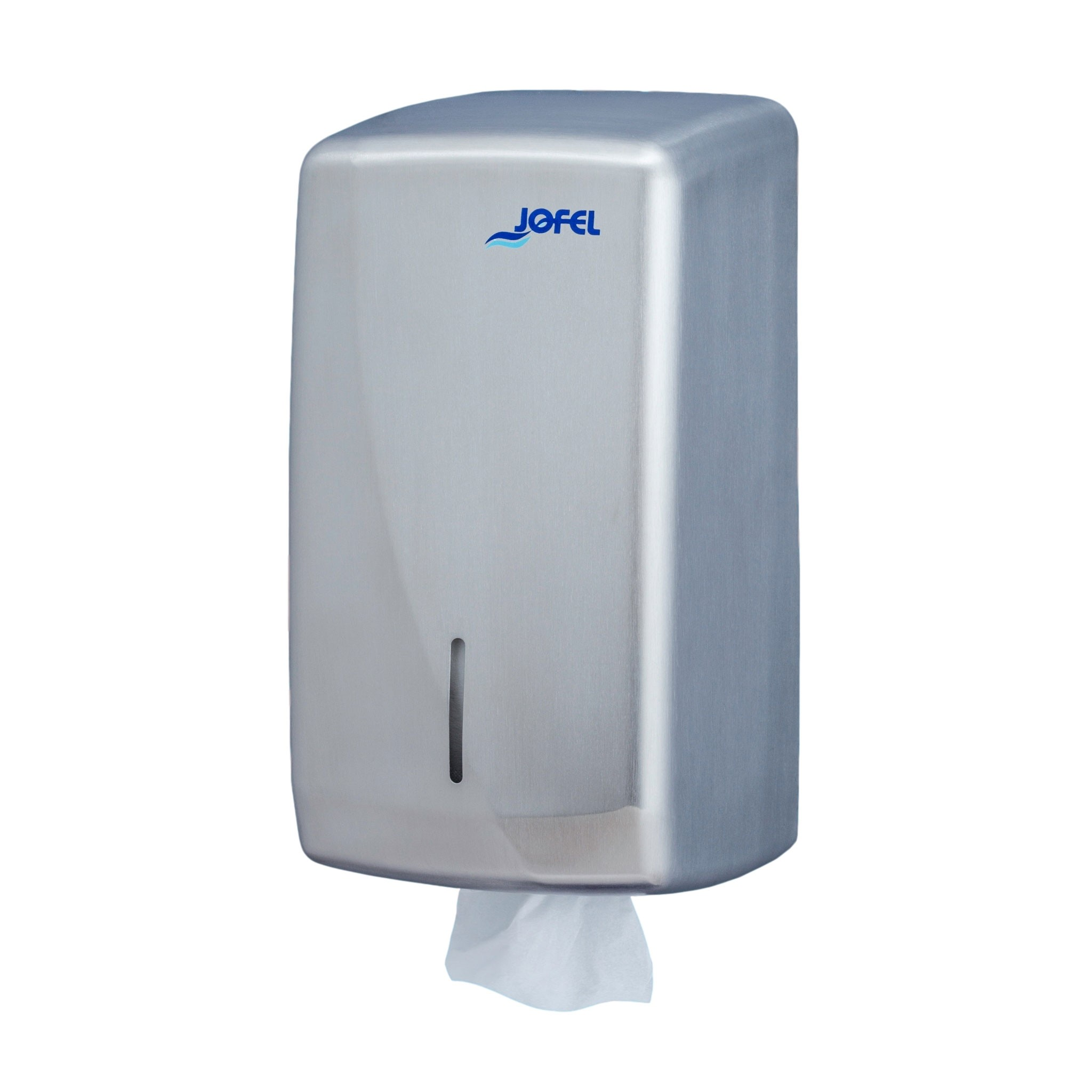 Μεταλλική θήκη για χαρτί υγείας φύλλο φύλλο Jofel Futura Satin inox AH75000