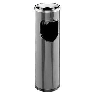 Σταχτοδοχείο - Τασάκι δαπέδου με κάδο Jofel 20lt - Μαύρο Ματ