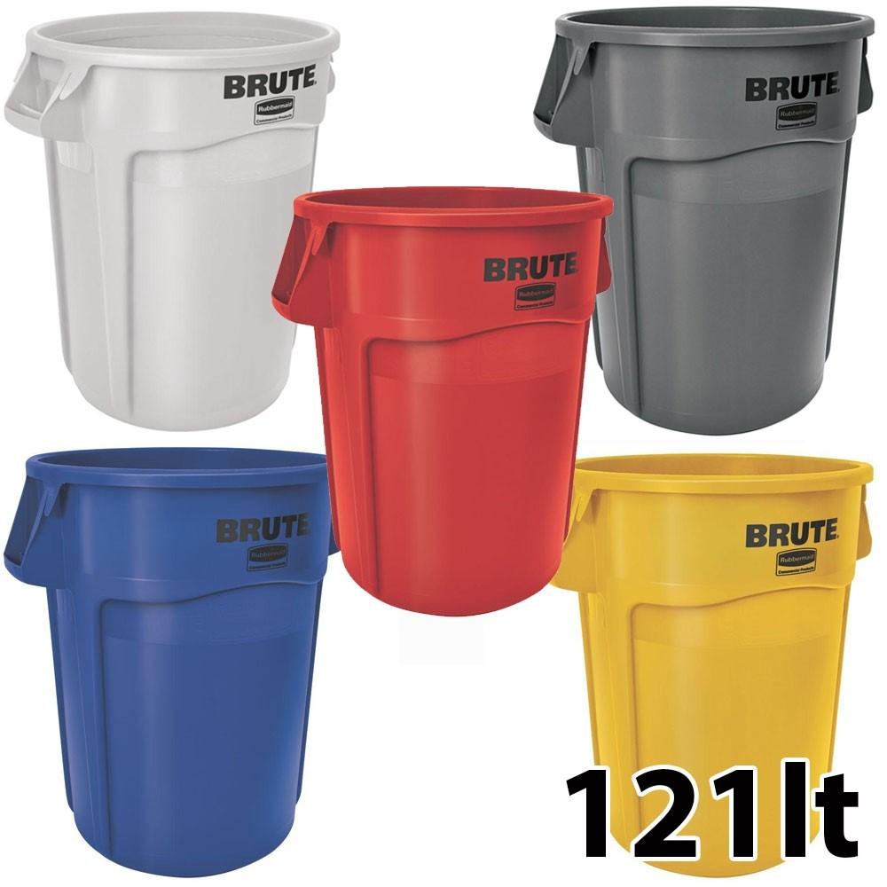 Κάδος απορριμάτων Rubbermaid Brute Round 121lt - σε 5 χρώματα