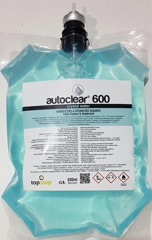 Ανταλλακτικό υγρό τουαλέτας WC Cleaner Deodoriser refill Crystal water 600ml