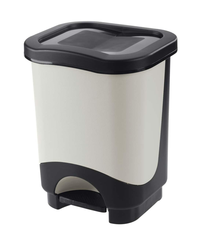 Κάδος απορριμμάτων WC με πεντάλ Tontarelli Idea 18lt Μαύρο-Λευκό