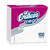 Χαρτοπετσέτες Endless Mega Λευκή 33x33cm