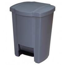 Κάδος απορριμάτων WC γκρι 18lt με πεντάλ
