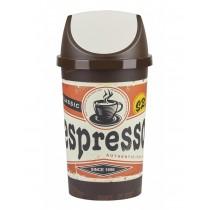 Κάδος απορριμμάτων Tontarelli Swing with photo με παλλόμενο καπάκι Push 25lt - Espresso