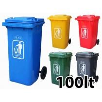 Κάδος απορριμάτων με ρόδες Ram 100lt - σε 5 χρώματα
