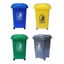 Πλαστικός κάδος Ram 50lt με ρόδες σε 4 χρώματα