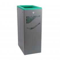 Μεταλλικός κάδος ανακύκλωσης Jofel 40lt AL707050 πράσινο