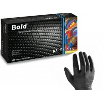 Γάντια μιας χρήσης Νιτριλίου χωρίς πούδρα σε χρώμα Μαύρο Aurelia Bold 100τεμ
