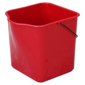 Πλαστικός κουβάς με χειρολαβή Κόκκινο 25lt