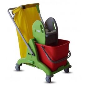 Καρότσι σφουγγαρίσματος με ένα κουβά και σακούλα Euromop 25lt