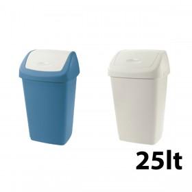 Κάδος απορριμάτων Tontarelli Aurora με καπάκι Push 25lt - σε 2 χρώματα