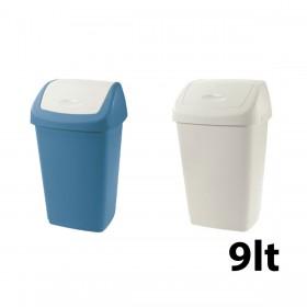 Κάδος απορριμάτων WC Tontarelli Aurora με καπάκι Push 9lt - σε 3 χρώματα