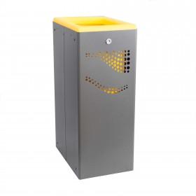 Μεταλλικός κάδος ανακύκλωσης Jofel 40lt AL707050 κίτρινος