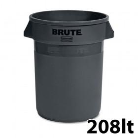 Κάδος απορριμάτων Rubbermaid Brute Round 208lt - σε γκρι χρώμα