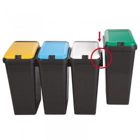 Σετ κάδων ανακύκλωσης Tontarelli Bido 4x45lt με 4 χρώματα